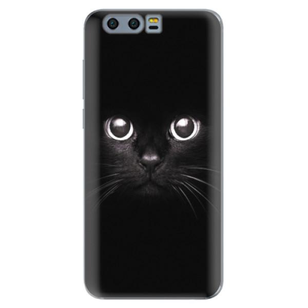 Silikonové pouzdro iSaprio - Black Cat - Huawei Honor 9