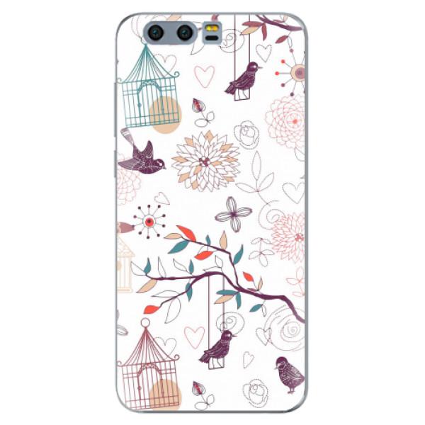 Silikonové pouzdro iSaprio - Birds - Huawei Honor 9
