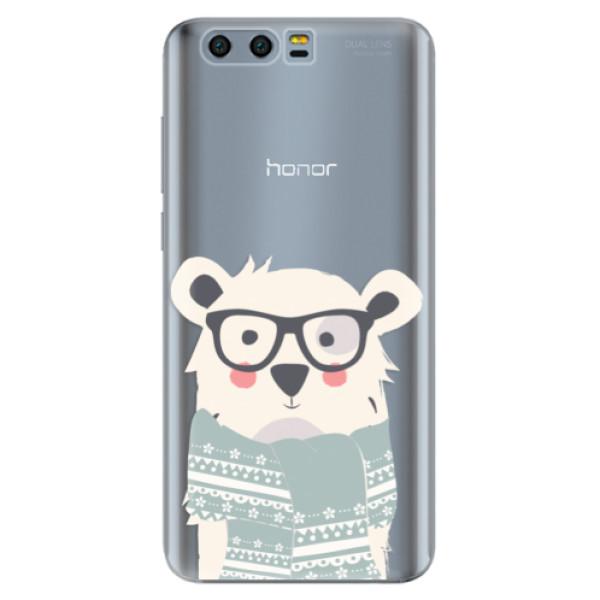 Silikonové pouzdro iSaprio - Bear with Scarf - Huawei Honor 9
