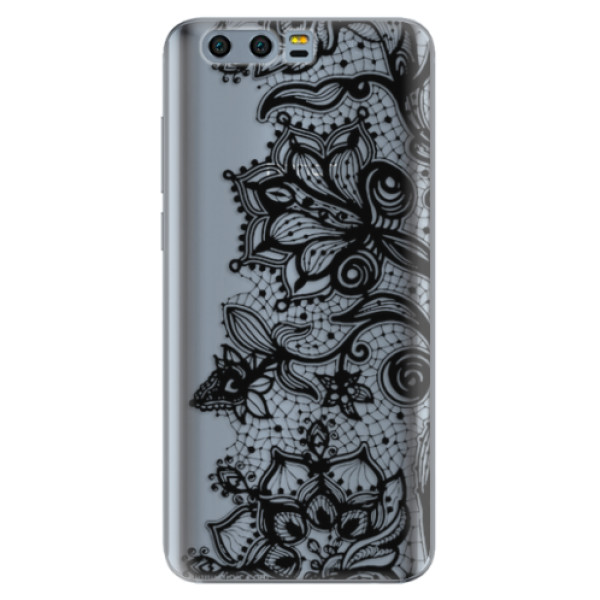 Silikonové pouzdro iSaprio - Black Lace - Huawei Honor 9