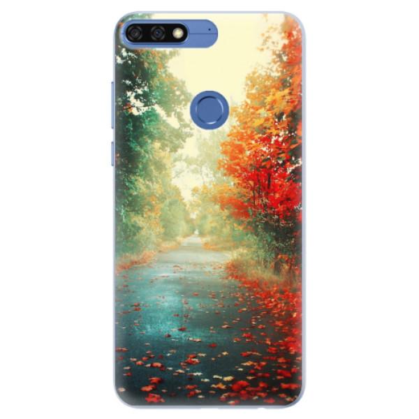 Silikonové pouzdro iSaprio - Autumn 03 - Huawei Honor 7C