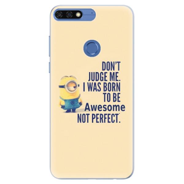 Silikonové pouzdro iSaprio - Be Awesome - Huawei Honor 7C