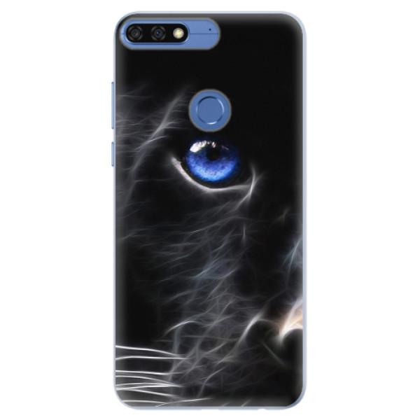 Silikonové pouzdro iSaprio - Black Puma - Huawei Honor 7C