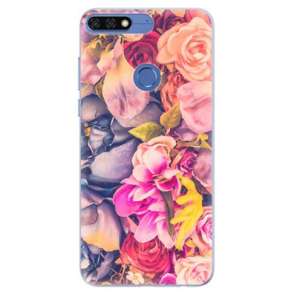 Silikonové pouzdro iSaprio - Beauty Flowers - Huawei Honor 7C