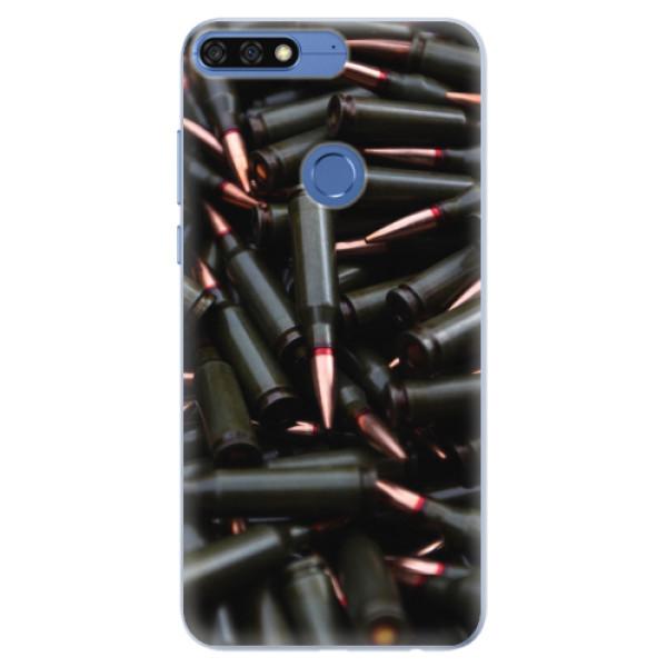 Silikonové pouzdro iSaprio - Black Bullet - Huawei Honor 7C