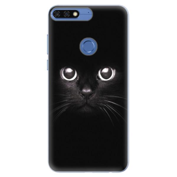 Silikonové pouzdro iSaprio - Black Cat - Huawei Honor 7C