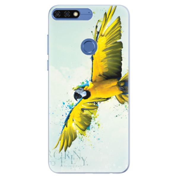 Silikonové pouzdro iSaprio - Born to Fly - Huawei Honor 7C