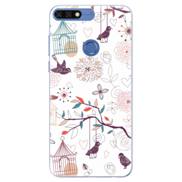 Silikonové pouzdro iSaprio - Birds - Huawei Honor 7C