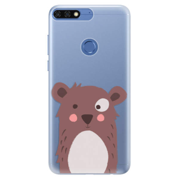 Silikonové pouzdro iSaprio - Brown Bear - Huawei Honor 7C