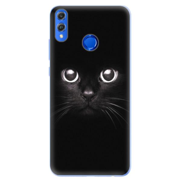 Silikonové pouzdro iSaprio - Black Cat - Huawei Honor 8X