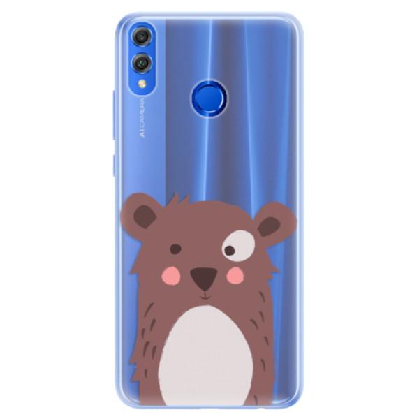 Silikonové pouzdro iSaprio - Brown Bear - Huawei Honor 8X