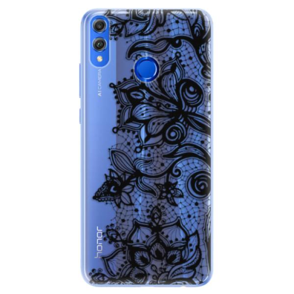 Silikonové pouzdro iSaprio - Black Lace - Huawei Honor 8X
