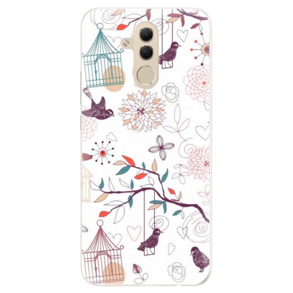 Silikonové pouzdro iSaprio - Birds - Huawei Mate 20 Lite