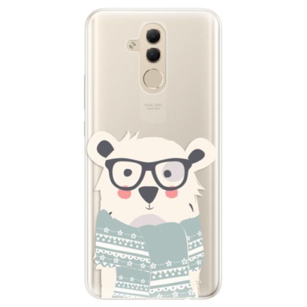 Silikonové pouzdro iSaprio - Bear with Scarf - Huawei Mate 20 Lite