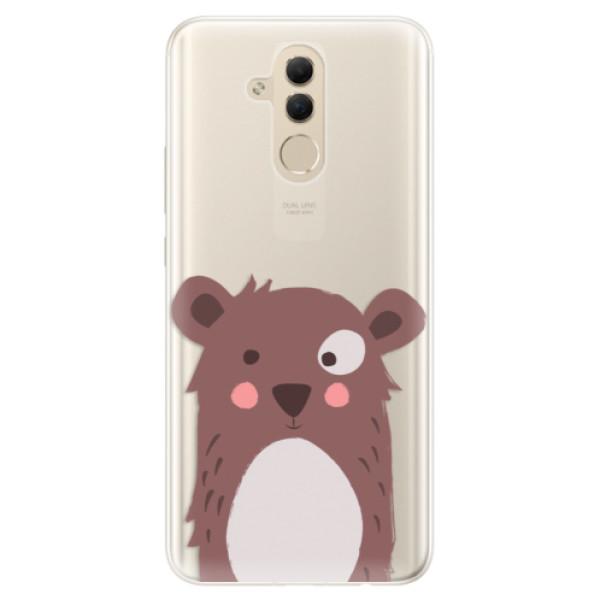 Silikonové pouzdro iSaprio - Brown Bear - Huawei Mate 20 Lite
