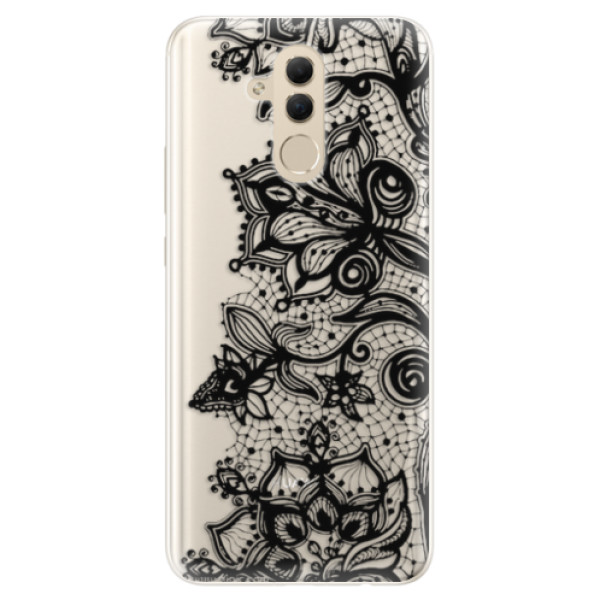 Silikonové pouzdro iSaprio - Black Lace - Huawei Mate 20 Lite