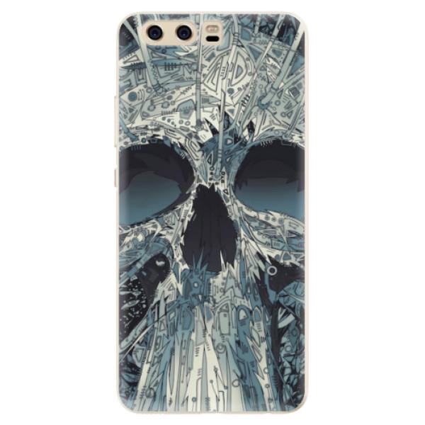 Silikonové pouzdro iSaprio - Abstract Skull - Huawei P10