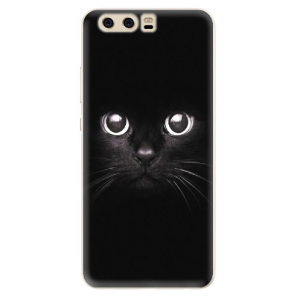Silikonové pouzdro iSaprio - Black Cat - Huawei P10