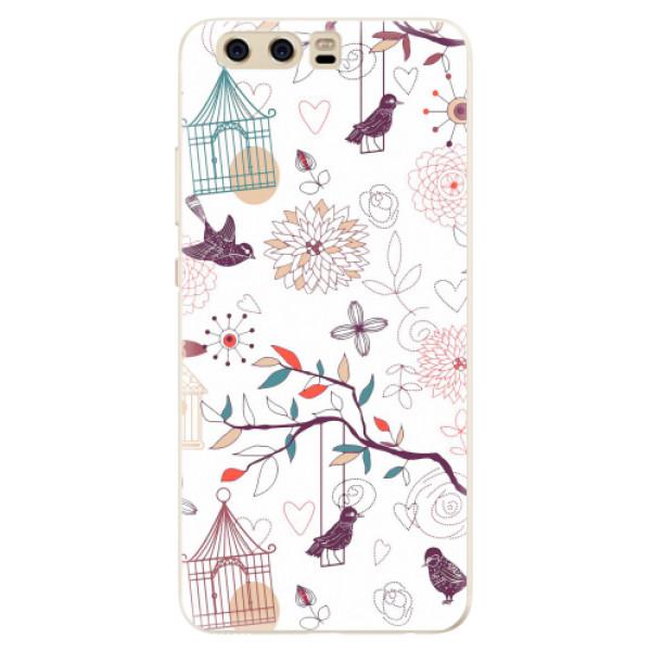 Silikonové pouzdro iSaprio - Birds - Huawei P10