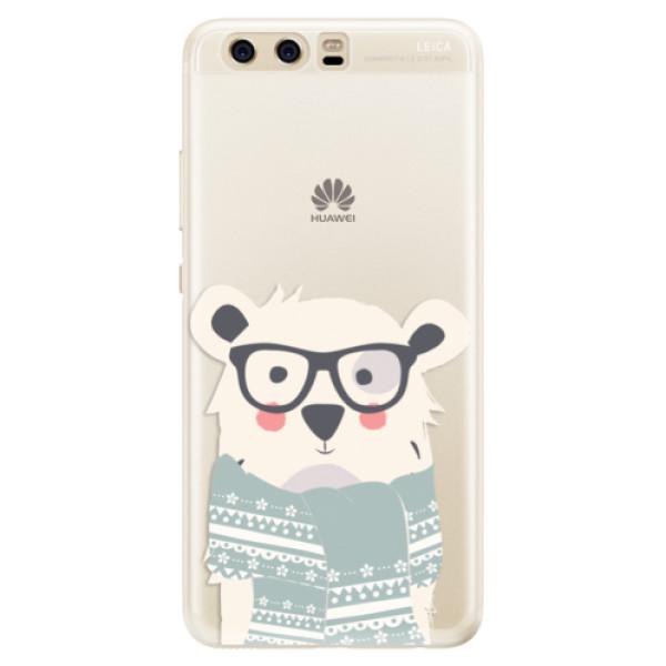 Silikonové pouzdro iSaprio - Bear with Scarf - Huawei P10