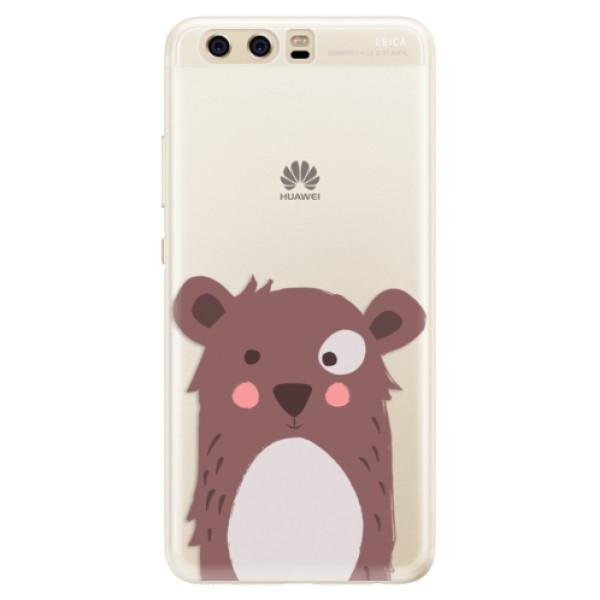 Silikonové pouzdro iSaprio - Brown Bear - Huawei P10