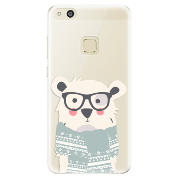 Silikonové pouzdro iSaprio - Bear with Scarf - Huawei P10 Lite