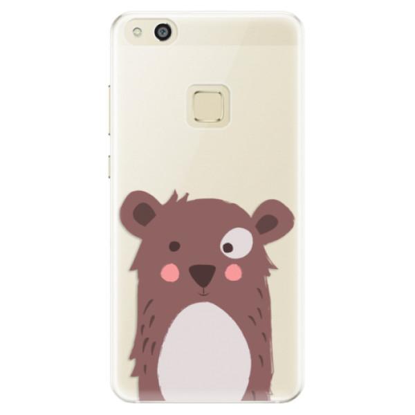 Silikonové pouzdro iSaprio - Brown Bear - Huawei P10 Lite