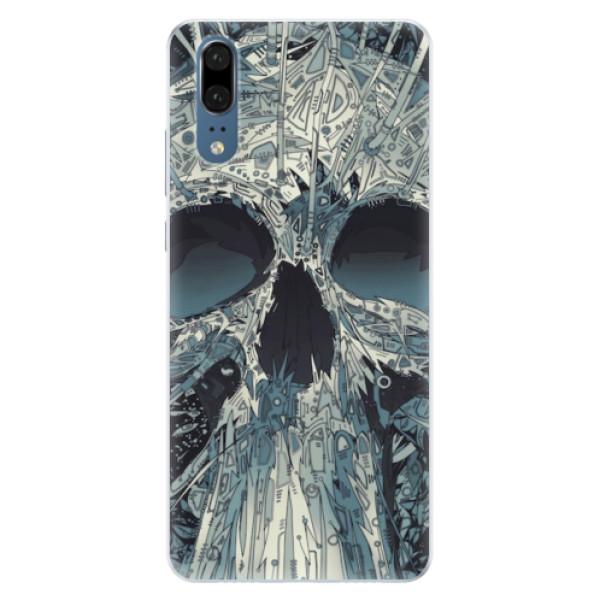 Silikonové pouzdro iSaprio - Abstract Skull - Huawei P20