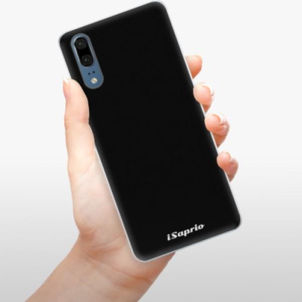 Silikonové pouzdro iSaprio - 4Pure - černý - Huawei P20