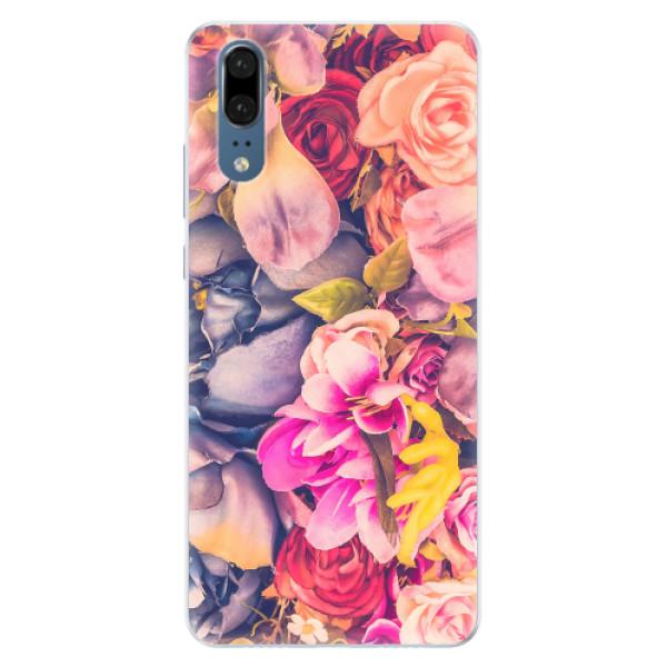 Silikonové pouzdro iSaprio - Beauty Flowers - Huawei P20