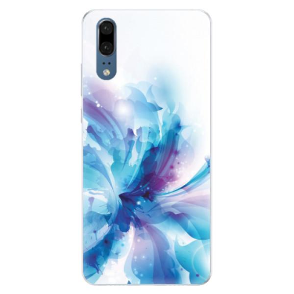 Silikonové pouzdro iSaprio - Abstract Flower - Huawei P20