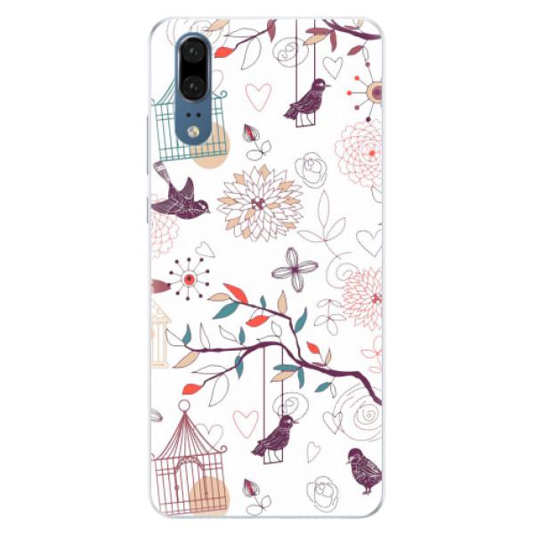 Silikonové pouzdro iSaprio - Birds - Huawei P20