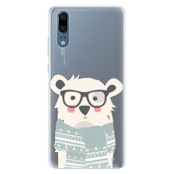 Silikonové pouzdro iSaprio - Bear with Scarf - Huawei P20