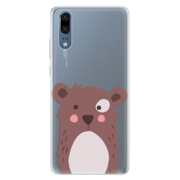Silikonové pouzdro iSaprio - Brown Bear - Huawei P20