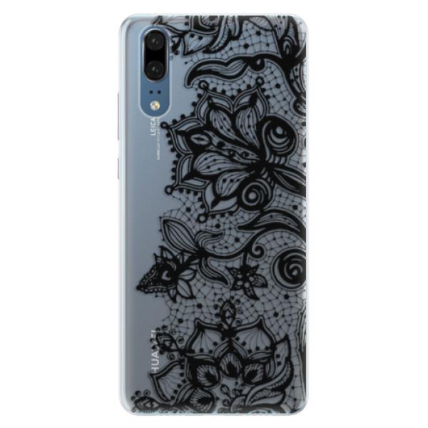 Silikonové pouzdro iSaprio - Black Lace - Huawei P20