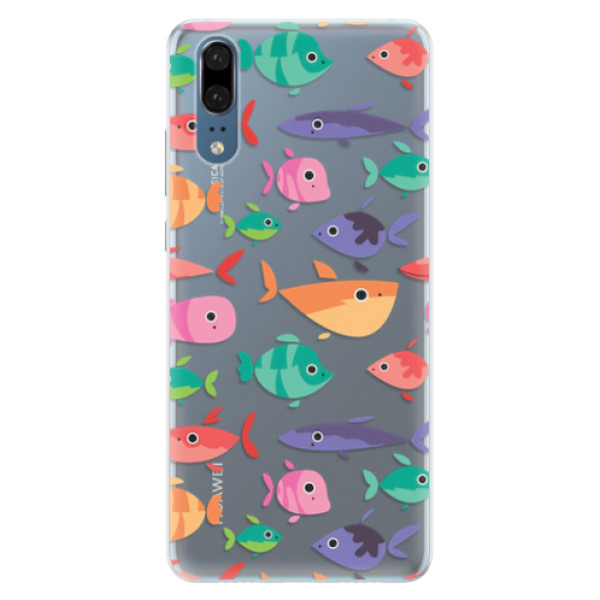 Silikonové pouzdro iSaprio - Fish pattern 01 - Huawei P20