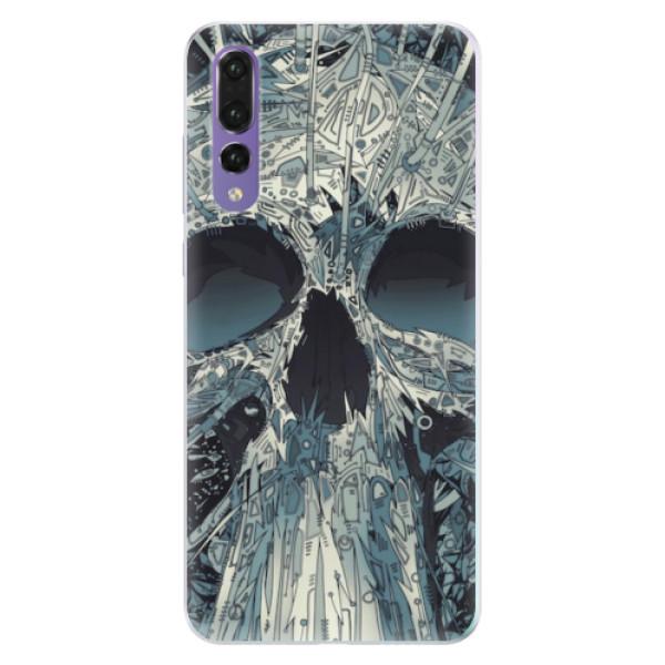 Silikonové pouzdro iSaprio - Abstract Skull - Huawei P20 Pro