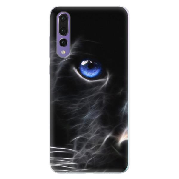 Silikonové pouzdro iSaprio - Black Puma - Huawei P20 Pro
