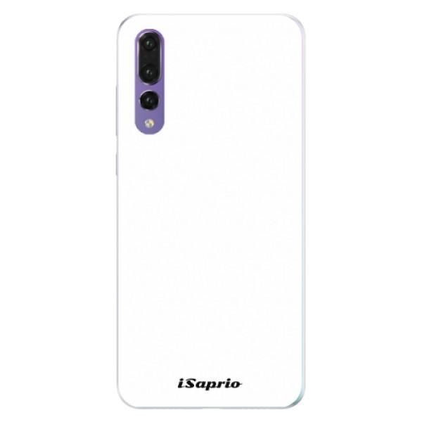 Silikonové pouzdro iSaprio - 4Pure - bílý - Huawei P20 Pro