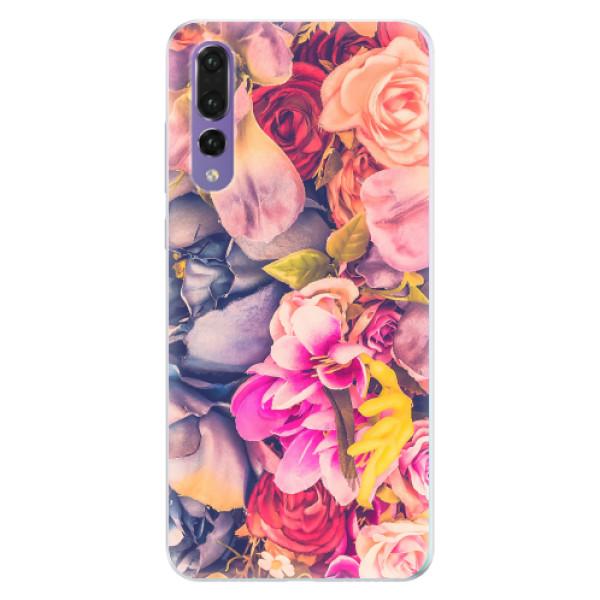 Silikonové pouzdro iSaprio - Beauty Flowers - Huawei P20 Pro