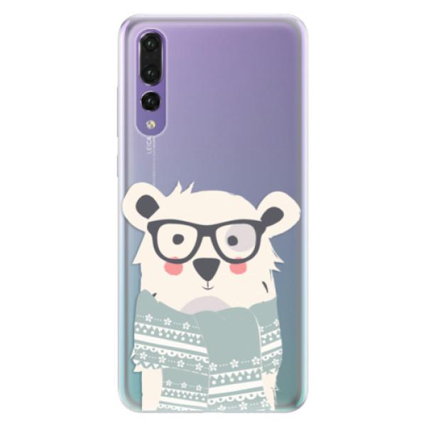 Silikonové pouzdro iSaprio - Bear with Scarf - Huawei P20 Pro