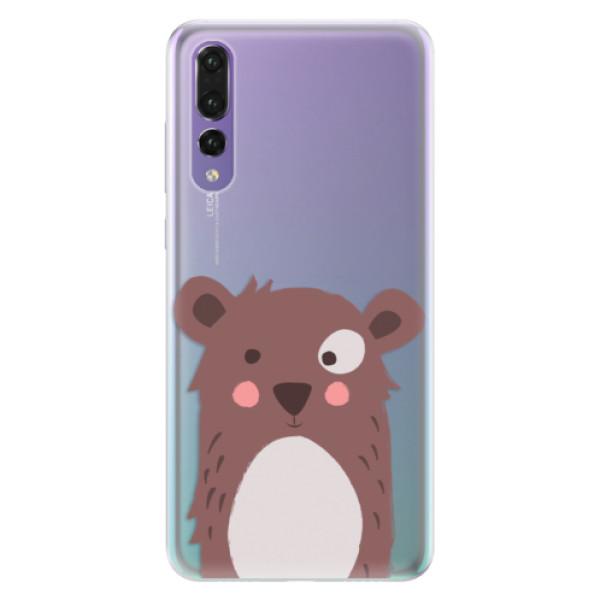 Silikonové pouzdro iSaprio - Brown Bear - Huawei P20 Pro