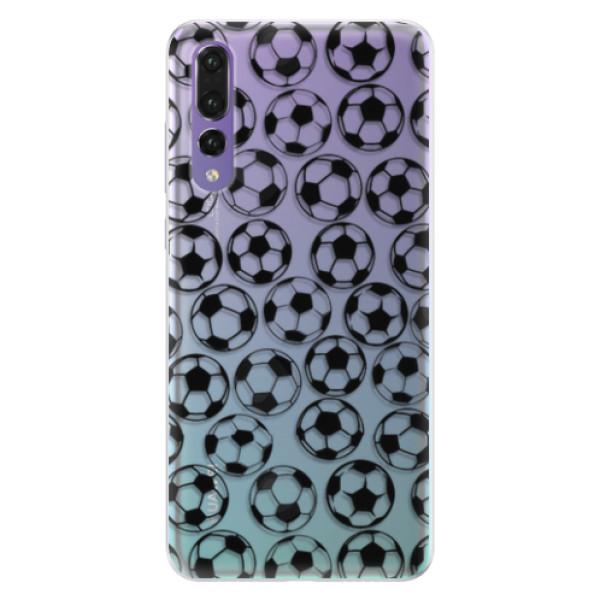 Silikonové pouzdro iSaprio - Football pattern - black - Huawei P20 Pro