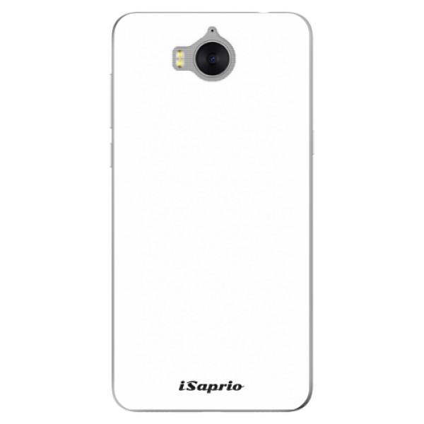 Silikonové pouzdro iSaprio - 4Pure - bílý - Huawei Y5 2017 / Y6 2017