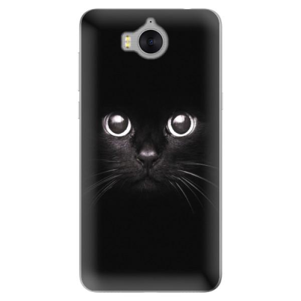 Silikonové pouzdro iSaprio - Black Cat - Huawei Y5 2017 / Y6 2017