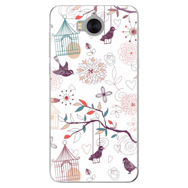 Silikonové pouzdro iSaprio - Birds - Huawei Y5 2017 / Y6 2017