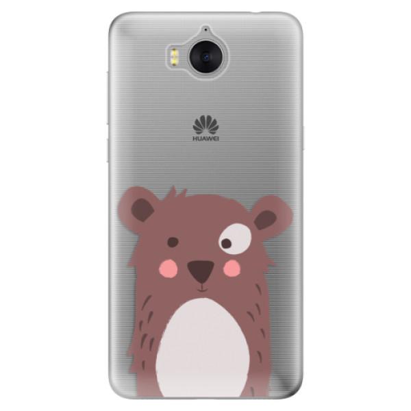 Silikonové pouzdro iSaprio - Brown Bear - Huawei Y5 2017 / Y6 2017