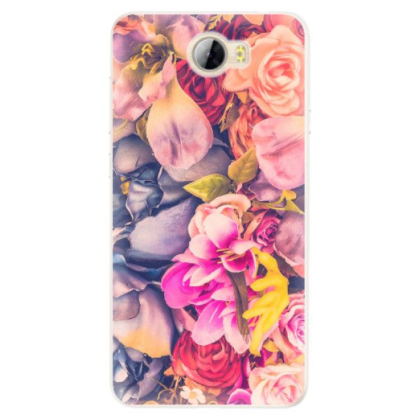 Silikonové pouzdro iSaprio - Beauty Flowers - Huawei Y5 II / Y6 II Compact