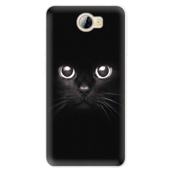 Silikonové pouzdro iSaprio - Black Cat - Huawei Y5 II / Y6 II Compact