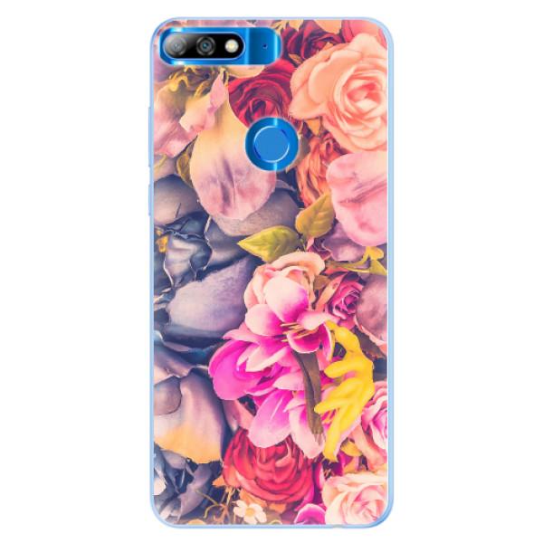 Silikonové pouzdro iSaprio - Beauty Flowers - Huawei Y7 Prime 2018